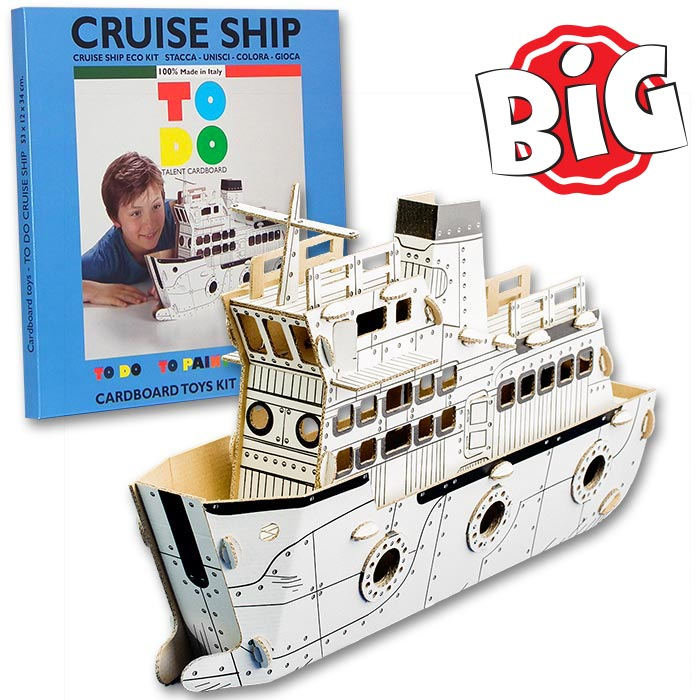 TO DO Cruise Ship Cardboard Toy To Coloring - Toy cruise ship